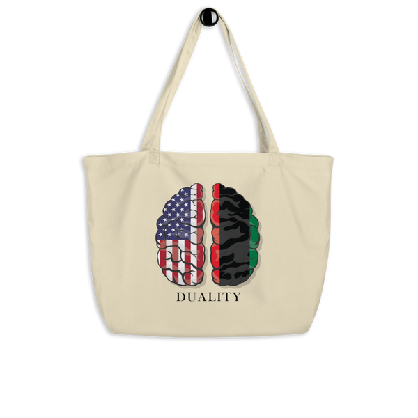 Dual Brain Large organic tote bag