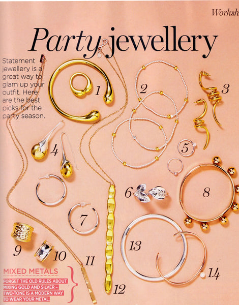 Pushmataaha Australian Women's Weekly December 2015 Twin Spirit Ring & Masai Earrings