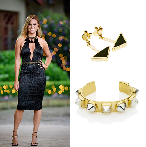 elise slater the bachelor fashion en tribe earrings nubian cuff