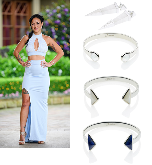 Sian The Bachelor Full Moon Cuff En Tribe Cuff Shard Earrings Pushmataaha