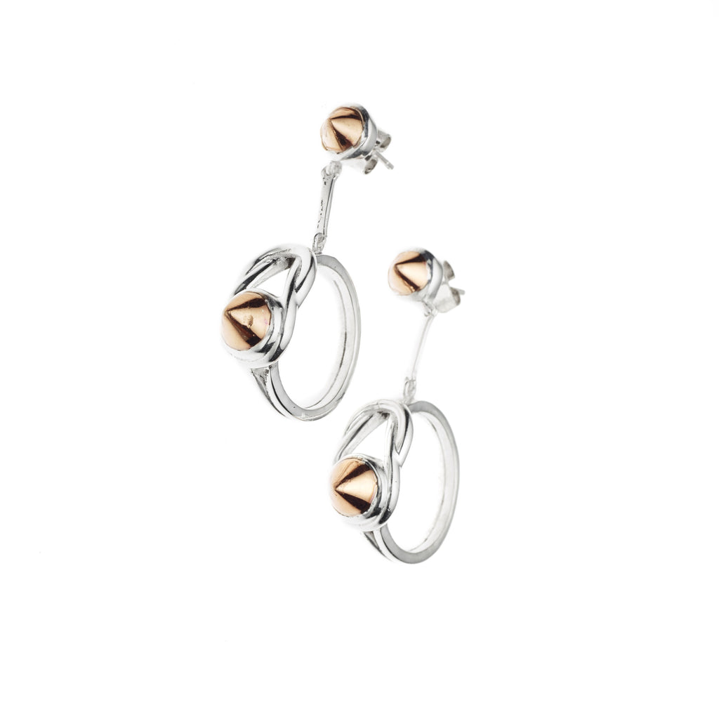 Apeiros Earrings | Sterling Silver with Rose Gold Plate