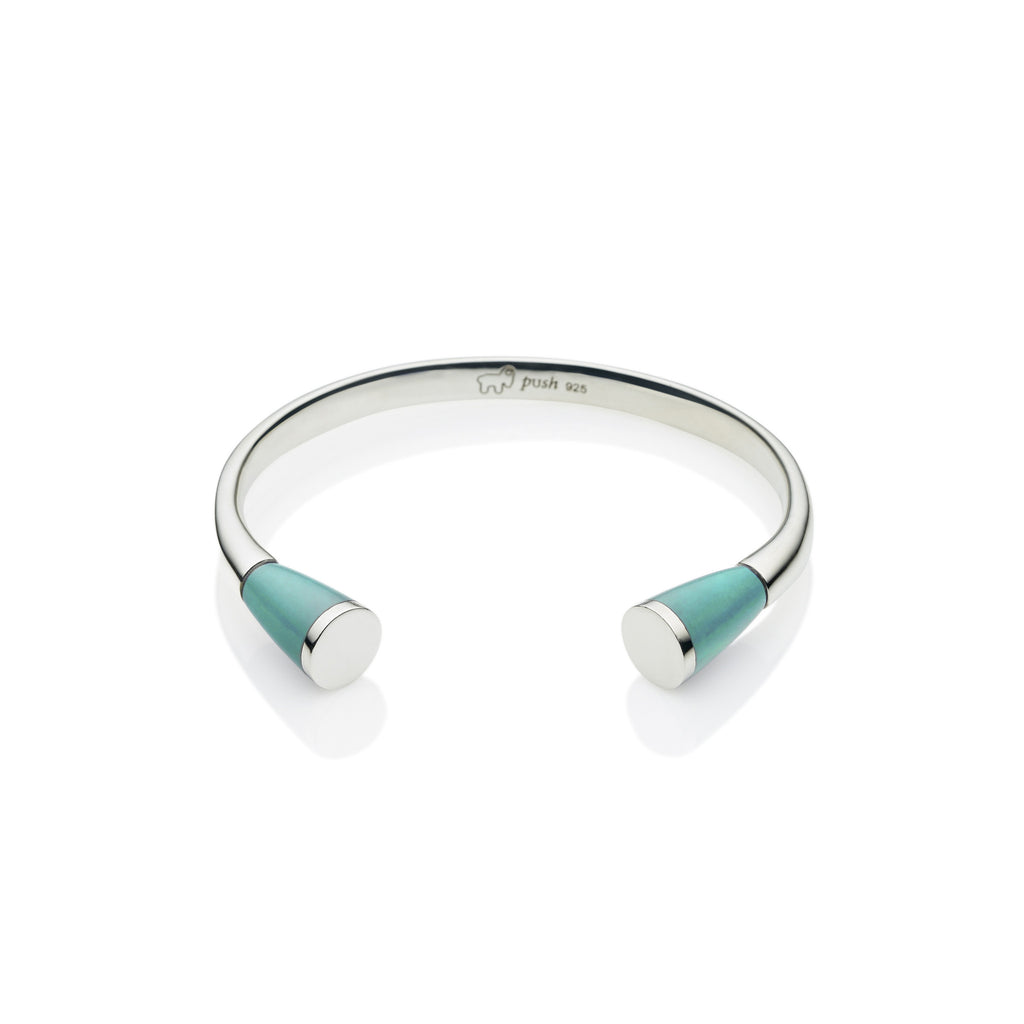 Comet Cuff in Sterling Silver & Turquoise