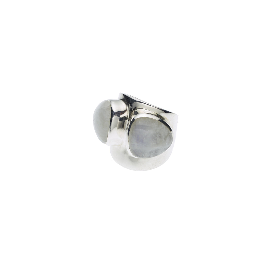 Draco Ring in Sterling Silver & Moonstone