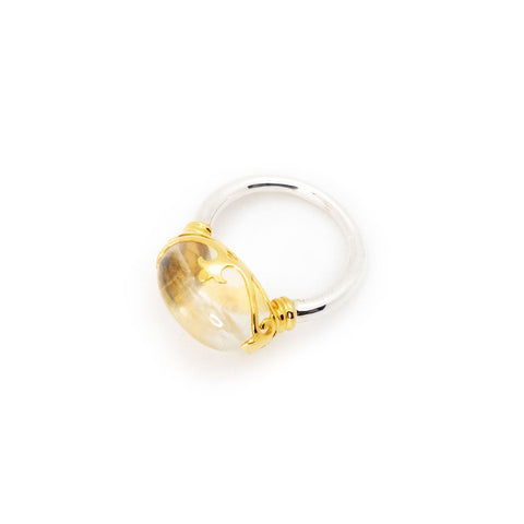Duchess Ring | Crystal, Sterling Silver with Gold Plate