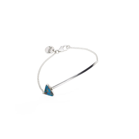 En Arrow Bracelet | Blue Copper Turquoise with Sterling Silver