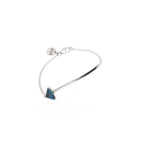 En Arrow Bracelet | Chrysocolla with Sterling Silver