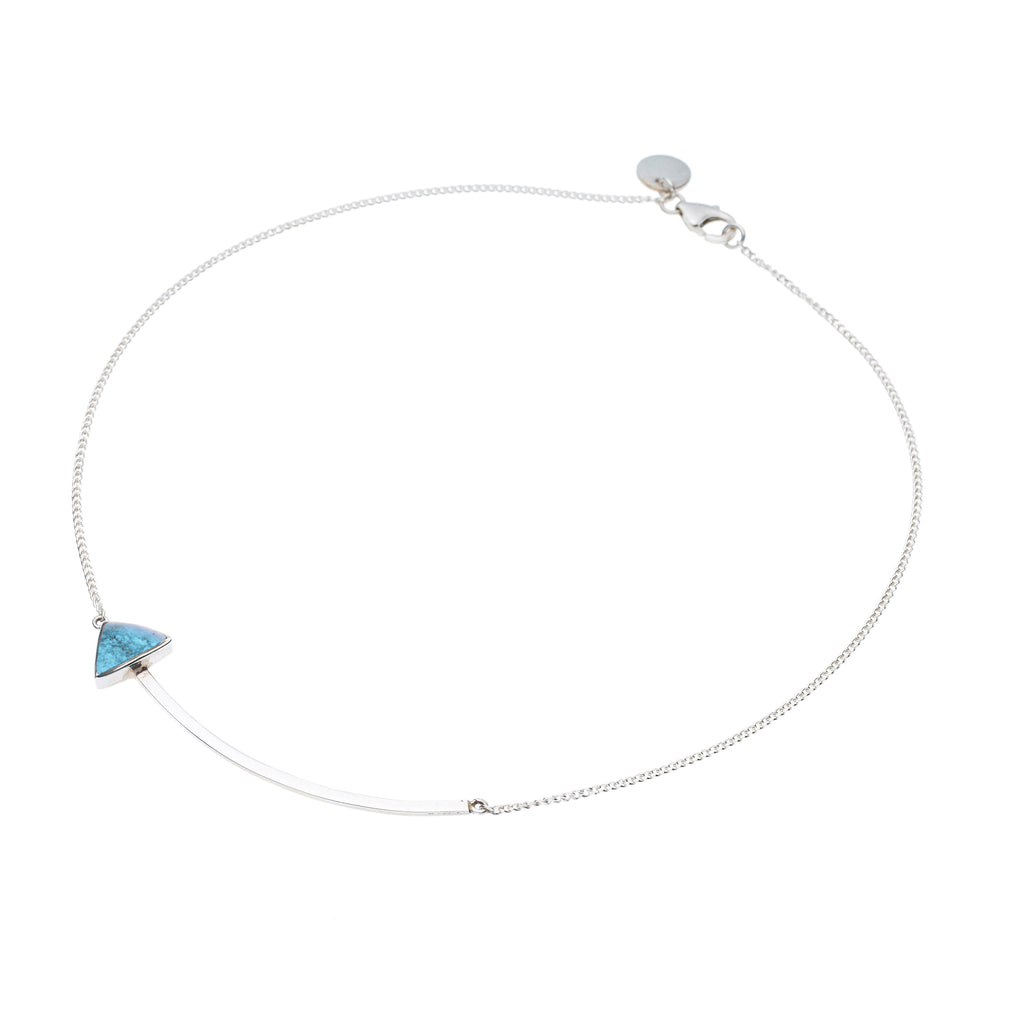 En Arrow Necklace | Turquoise with Sterling Silver