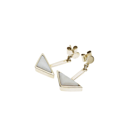 En Tribe Earrings in Gold Plated Brass & Buffalo Bone