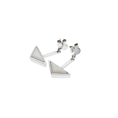 En Tribe Earrings in Sterling Silver & Buffalo Bone