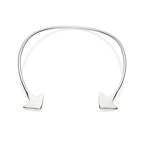 En Tribe Neck Cuff in Sterling Silver