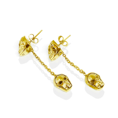 Twin Skull Drop Earring | Pushmataaha