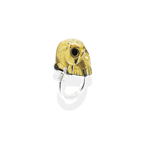Skull & Claw Ring | Sterling Silver & Gold Plate