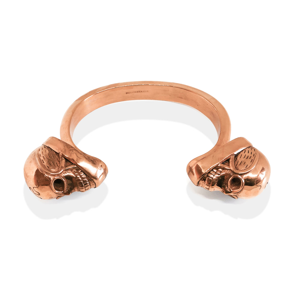 Skull Cuff | Brass Rose Gold Plate