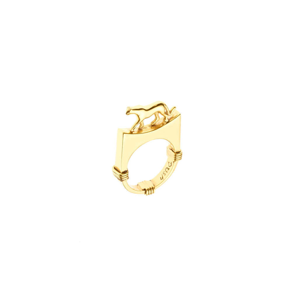 Lynx Ring | Gold Plate