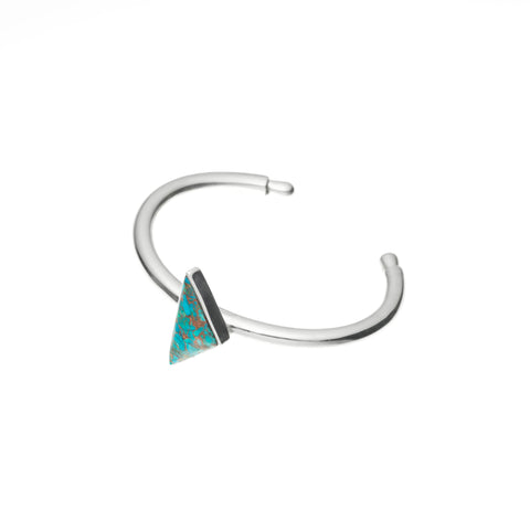 Maia Cuff | Chrysocolla with Sterling Silver