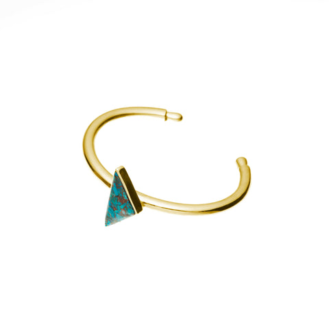 Maia Cuff | Chrysocolla with Gold Plate