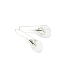 Masai Earrings in 925 Sterling Silver & White Calcite
