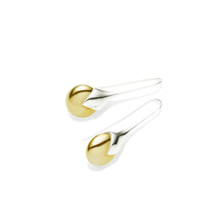 Masai Earring in 925 Sterling Silver & Gold Plated Orb