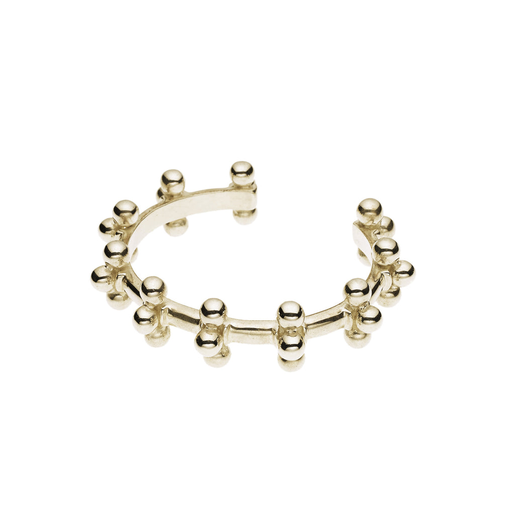 Mema Cuff in Gold Plated Brass