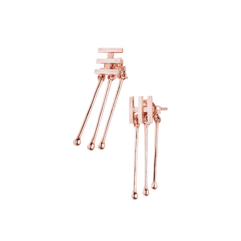 Mema Earrings | Rose Gold Plated Sterling Silver