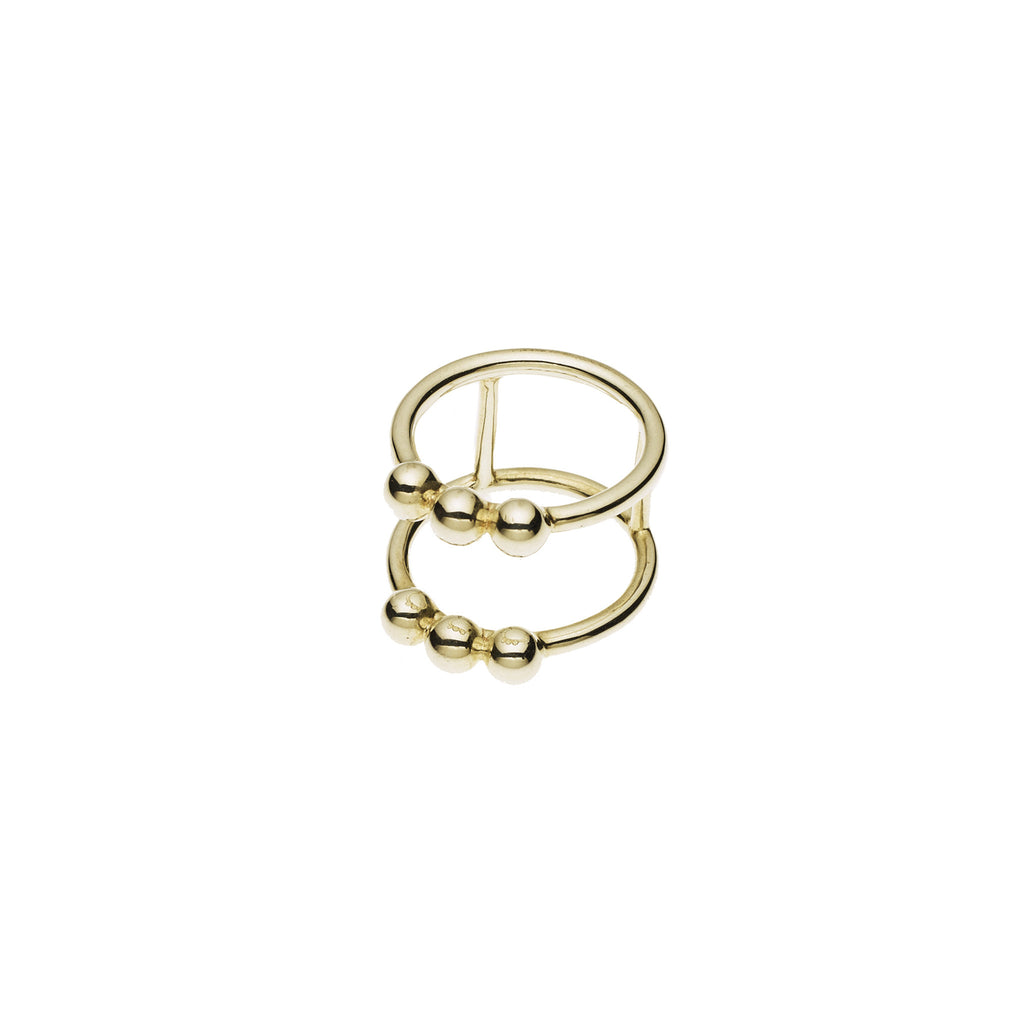 Mema Shield Ring in Gold Plated Sterling Silver