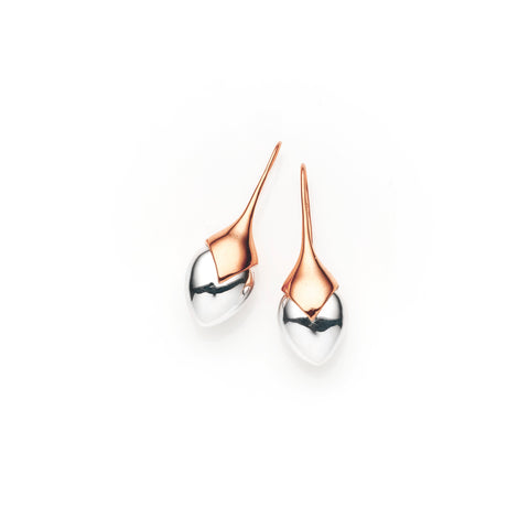 Medium Water Masai Earrings | Rose Gold Plate | select stones