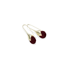 Mini Masai in Gold Plated Brass & Faceted Garnet