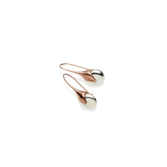 Mini Masai Earrings in Rose Gold Plated Brass & Sterling Silver