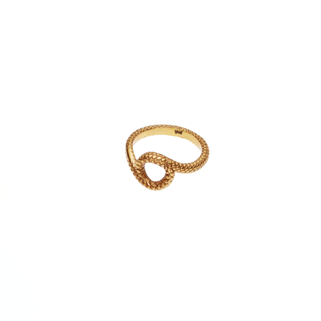 Mother Serpent Ring | Gold Plate