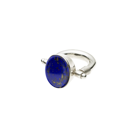 Ocelot Ring in Sterling Silver & Lapis