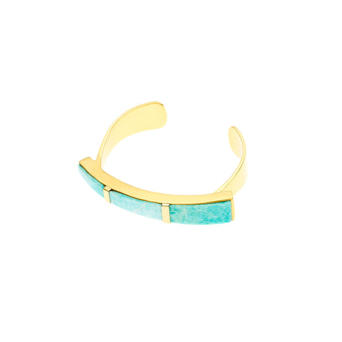 Orion Cuff | Amazonite with Gold Plate