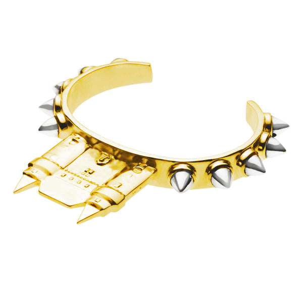 Castle Cuff | Gold Plate and Sterling Silver