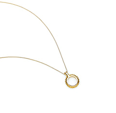 Sun Necklace | Sterling Silver with Gold Plate
