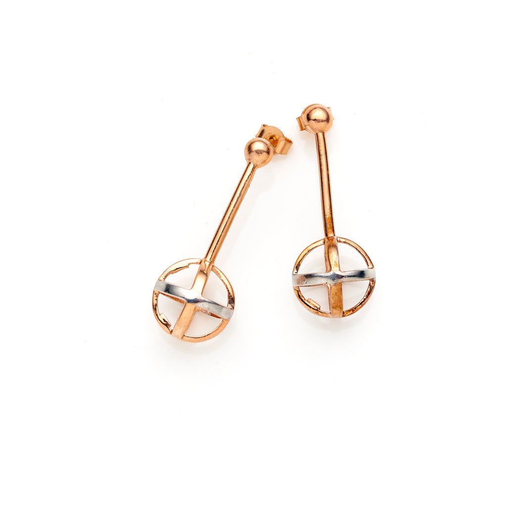 Sphere Rose Earrings | Pushmataaha