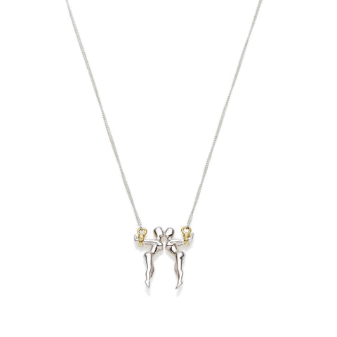 Gemini Necklace | Sterling Silver with Gold Plate