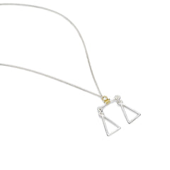 Libra Necklace | Sterling Silver with Gold Plate