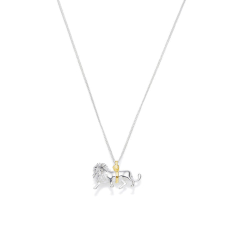 Leo Necklace | Sterling Silver with Gold Plate