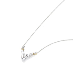Virgo Necklace | Sterling Silver with Gold Plate