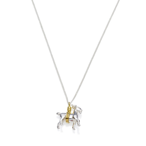 Capricorn Necklace | Sterling Silver with Gold Plate
