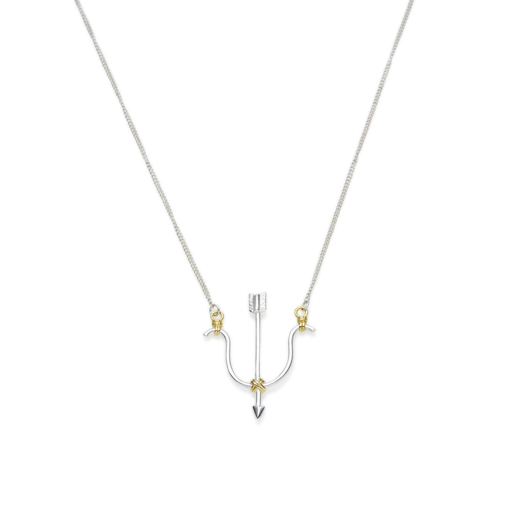 Sagittarius Necklace | Sterling Silver with Gold Plate