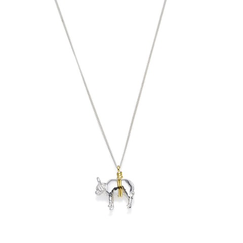 Taurus Necklace | Sterling Silver with Gold Plate