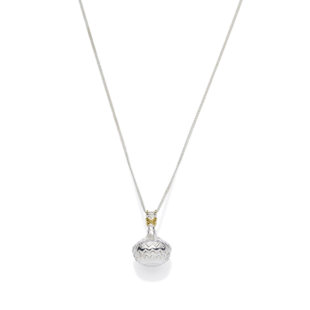 Aquarius Necklace | Sterling Silver with Gold Plate