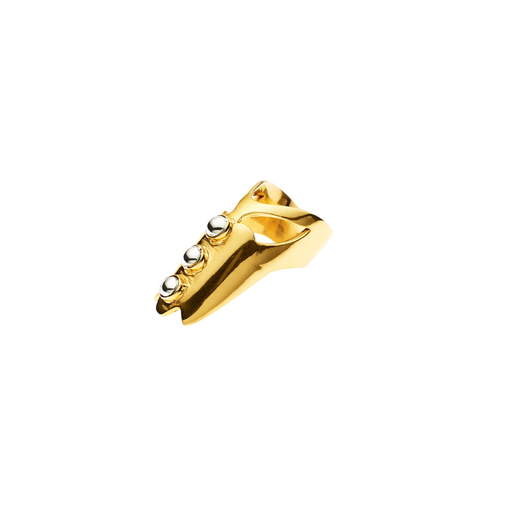 Coyote Tri Ring | Gold Plate with Sterling Silver