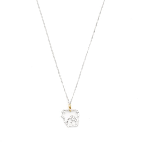 Year Of The Dog Necklace | Sterling Silver with Gold Plate