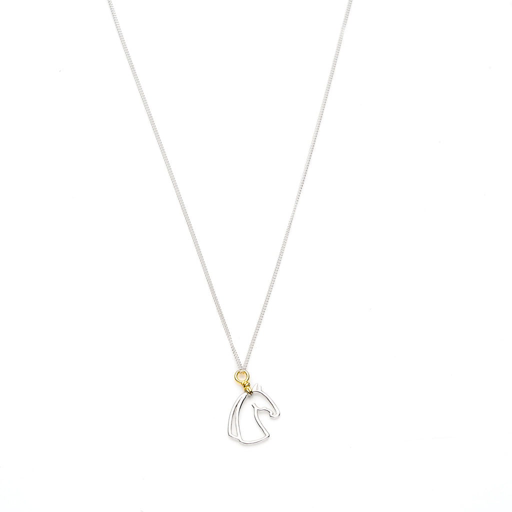 Year Of The Horse Necklace | Sterling Silver with Gold Plate