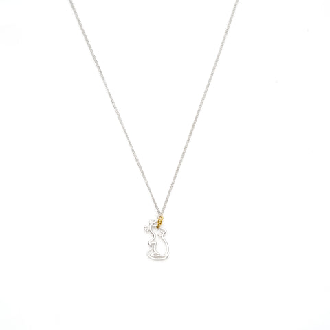 Year Of The Rat Necklace | Sterling Silver with Gold Plate