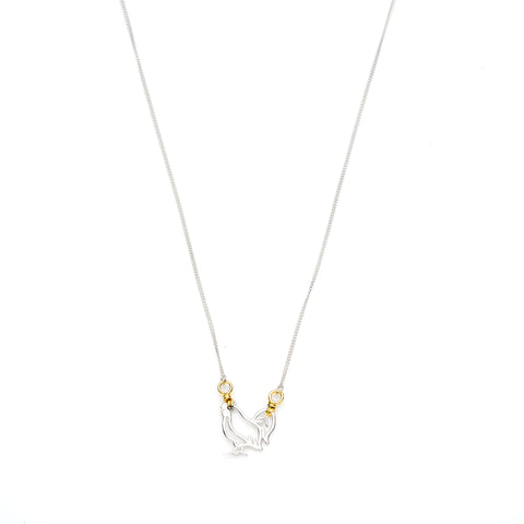 Year of The Rooster Necklace | Sterling Silver with Gold Plate