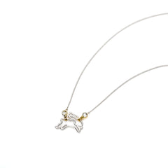 Year of The Rabbit Necklace | Sterling Silver with Gold Plate