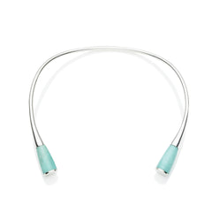 Comet Neck Cuff in Sterling Silver & Turquoise