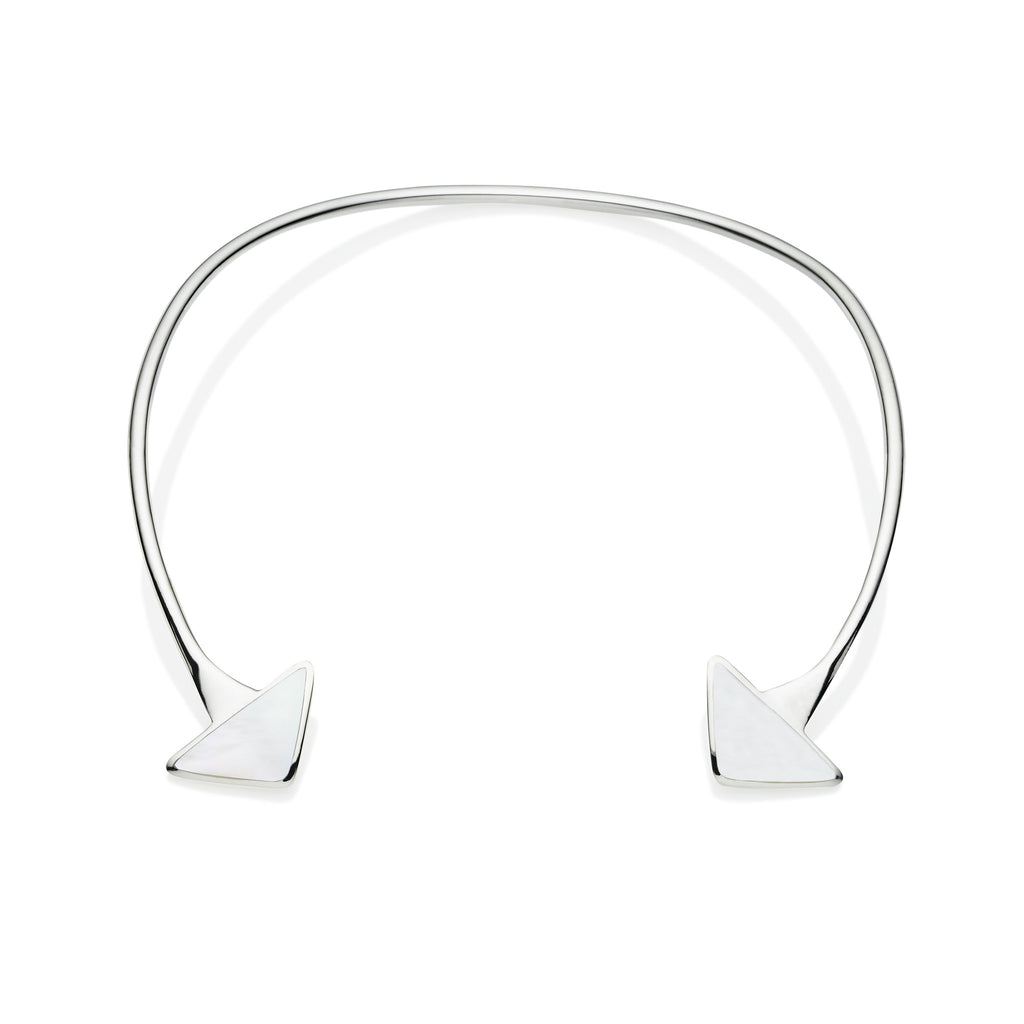 En Tribe Neck Cuff in Sterling Silver & Mother of Pearl
